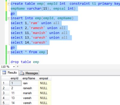 How to create multiple foreign key for table in sql server for Sql table design questionnaire