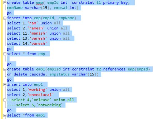 Sql create table add foreign key constraint for Table design sql server