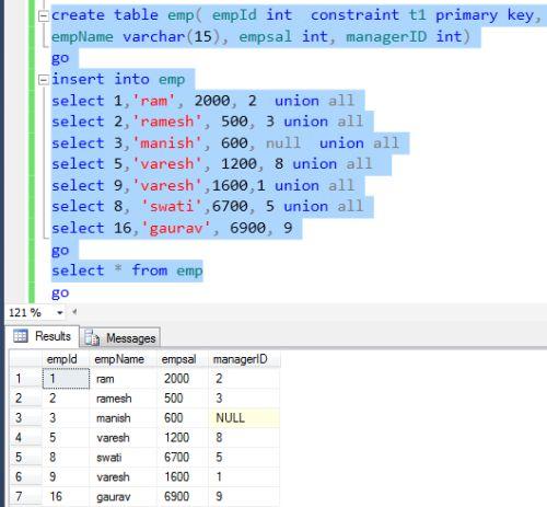 Self join as an inner join in sql server 2012 for Table design sql