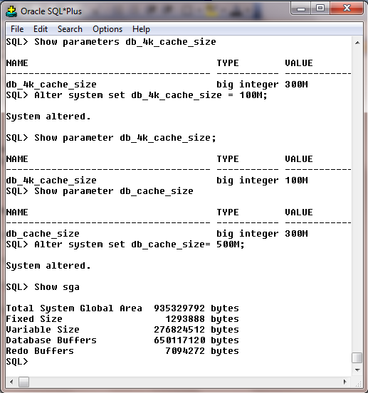 Db block size and db cache size in oracle season0891 itpub for Show parameter pool