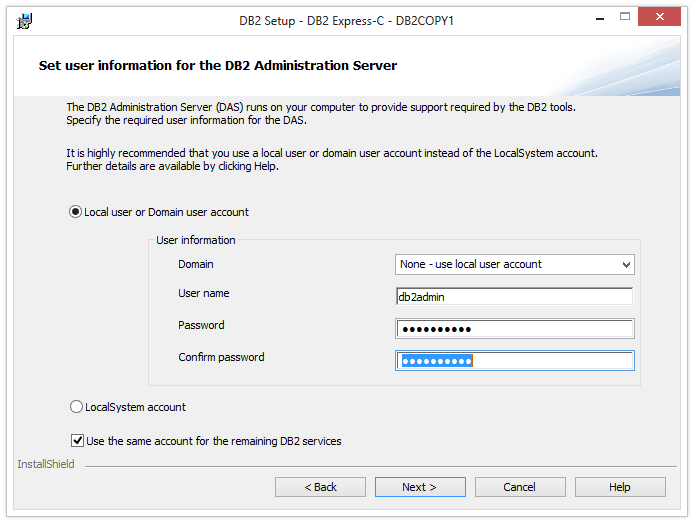 how to install db2 express c on windows 7
