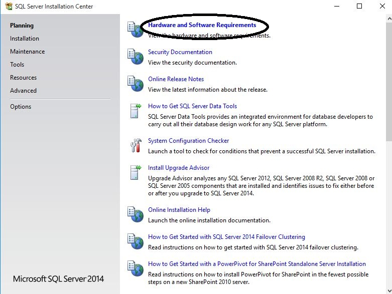 SQL Server Installation Steps - Hardware and software requirements